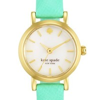 kate spade new york 'tiny metro' leather strap watch, 20mm