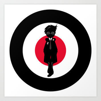 Sixties Mod Illustration Art Print by markmurphycreative