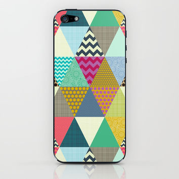 New York Beauty triangles iPhone & iPod Skin by Sharon Turner | Society6