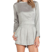 Motel Molly Jumpsuit in Gray