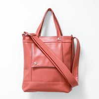 Packet in Sea Coral Pink Leather   Made to Order by jennyndesign