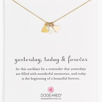 Women's Dogeared 'Yesterday, Today, Forever' Boxed Charm Necklace - Gold/ Silver/ Rose Gold