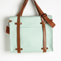 ModCloth Travel Camp Director Tote in Mint