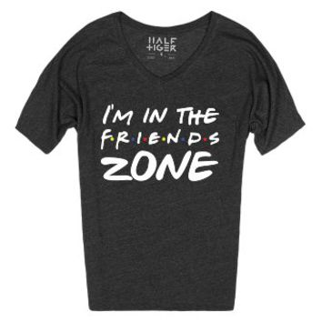 I'm In The Friends Zone-Unisex Heather Onyx T-Shirt