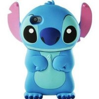 Disney 3d Stitch Movable Ear Flip Hard Case Cover for Iphone 4/4s Xmas gift