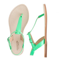 crewcuts Girls Neon T-Strap Sandals