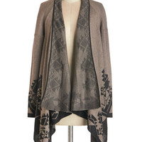 ModCloth Rustic Long Sleeve Winsome Woodlands Cardigan