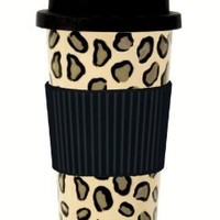C.R. Gibson Lolita Porcelain To Go Cup, Leopard