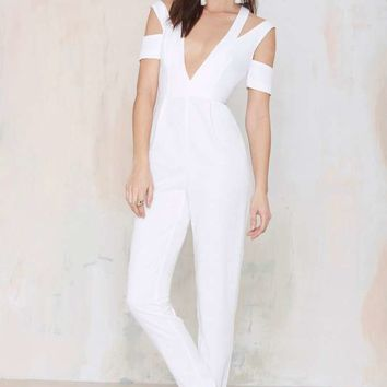 Style Stalker Island Fever Twill Jumpsuit