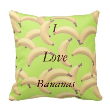 Customizable Bananas with text Pillows