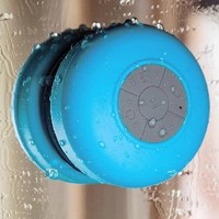 AquaAudio Mini Ultra Portable Waterproof Bluetooth Wireless Stereo Speakers with Suction Cup for Showers, Bathroom, Pool, Boat, Car, Beach, Outdoor etc. | For All Devices with Bluetooth Capability + Siri Compatible - 6 Hours Playtime / with Built-in Mic fo
