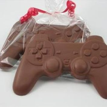 Electronic Game Player gift of Solid Milk Chocolate Candy Game Controller, for Adults & Children