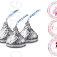 Ballerina Hershey Kisses labels Great for birthday partys. Digital file
