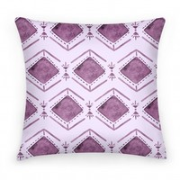 Purple Watercolor Tribal Pattern