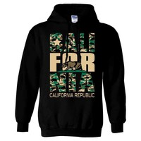 California State Flag Camo Asst Colors Sweatshirt Hoodie by DSC