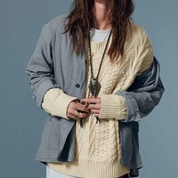 MINKPINK Work & Play Textured Knit Sweater- Ivory