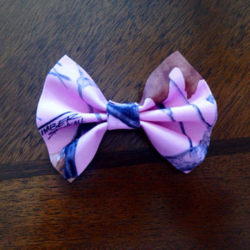 Realtree True Timber Pink Snowfall Camouflage Hairbow