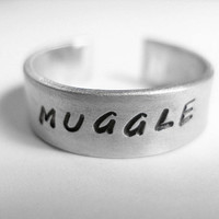 Harry Potter Muggle Stamped Aluminum Ring by dweebishdelights