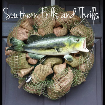 Fish Burlap Wreath