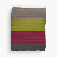 Brush Stroke Stripes: Taupe, Green, Burgundy, and Grey