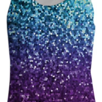 TANK TOP WOMEN Mosaic Sparkley Texture G21 created by Medusa GraphicArt | Print All Over Me