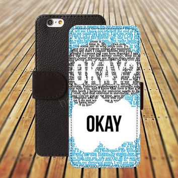iphone 5 5s case okay iphone 4/ 4s iPhone 6 6 Plus iphone 5C Wallet Case , iPhone 5 Case, Cover, Cases colorful pattern L076