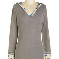 ModCloth Boho Mid-length Long Sleeve Hoodie Namaste After Day Top