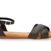 TOMS Black Woven Women's Correa Sandals Black