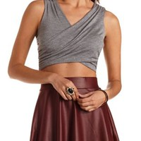 Ruched Wrap Crop Top by Charlotte Russe