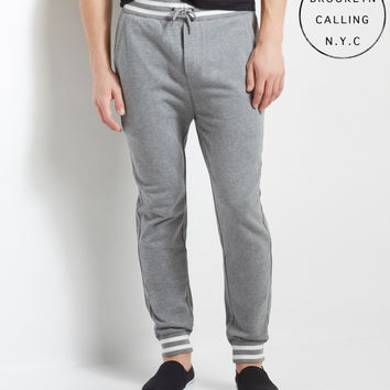 Brooklyn Calling Stripe Trim Jogger Sweatpants