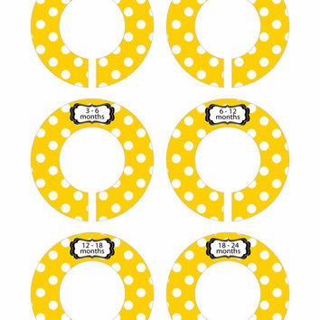 FINISHED PRODUCT Baby Closet Dividers Baby Shower Gift Closet Organizer CD54