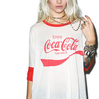 Wildfox Couture Coca Cola Sunny Morning Tee Vintage Lace