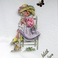 Lost in Thought, Hand Crafted 3D Decoupage Card, With Love (1712)