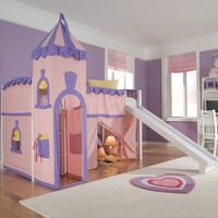 NE Kids School House Twin Princess Low Loft Bed