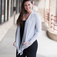 Basic Cardigan - Gray