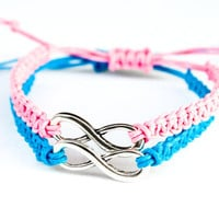 Infinity Couples Bracelets Pink and Blue