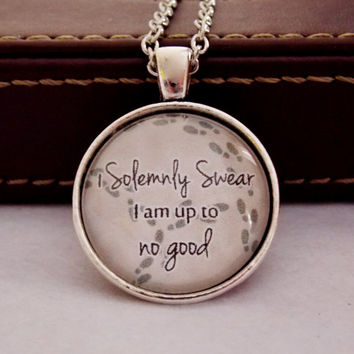 I Solemnly Swear I Am Up To No Good Necklace. Fandom Necklace. 18 Inch Chain.