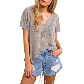 Women Vintage Wrangler Distressed High Waisted Ripped Destroyer Stone Denim
