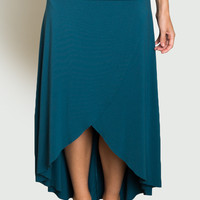 Grace High-Low Bamboo Skirt - Beckons