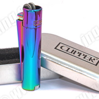 Clipper Metal Icy Rainbow Flint Cigarette Lighter