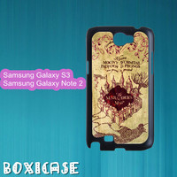 Harry Potter marauder's map---Samsung Galaxy S3 Case,Samsung Galaxy Note 2 Case,in plastic