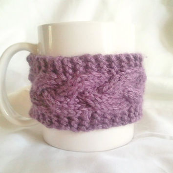 Coffee Cozy Coffee Sleeve Cup Cozy Mug Cozy Cable by MadebyMegShop