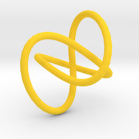 Knot earrings or necklace by lalylauradlm on Shapeways