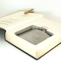 Vintage Hollow Book Safe and Flask-  Childhood and Society