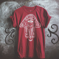 Paisley Hamsa shirt-  made to order