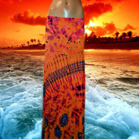 Tangerine Sky Tie Dyed Maxi Skirt **Only one available**