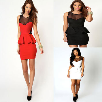 Slim Peplum Dress