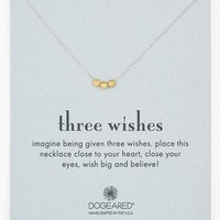 Women's Dogeared 'Three Wishes' Boxed Pendant Necklace