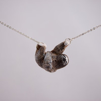 Lazy Sloth Necklace by CuriousBurrow on Etsy