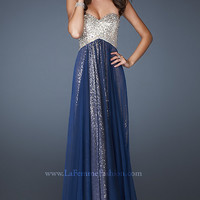 Strapless Sequin Gown by La Femme